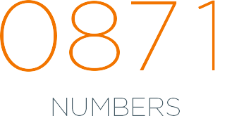 0871 numbers